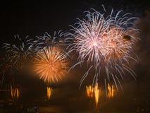 Celebrazione del giorno turco della Repubblica a Costantinopoli Bosphorus Fotografia Stock
