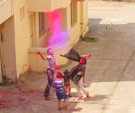Celebrazione del Holi in Puri Fotografia Stock