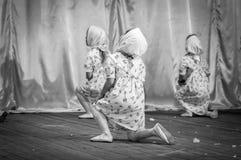 Celebrazione del 9 maggio, prestazione dei bambini Fotografia Stock Libera da Diritti