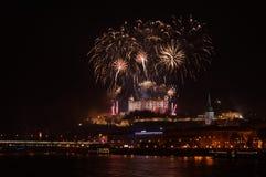 Celebrazione del nuovo anno di Bratislava Immagini Stock