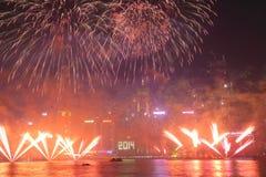 Celebrazione del nuovo anno in Hong Kong 2014 Immagine Stock