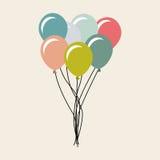 celebrazione del partito dell'aria dei palloni Fotografia Stock Libera da Diritti