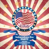 Celebrazione del partito di festa dell'indipendenza Modello di vettore Fotografia Stock