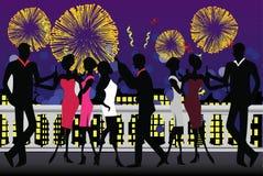 Celebrazione del partito di nuovo anno Fotografia Stock Libera da Diritti