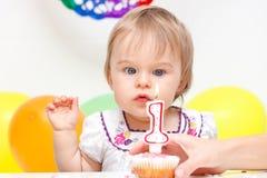 Celebrazione del primo compleanno Immagine Stock Libera da Diritti