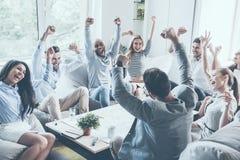 Celebrazione del successo Immagini Stock