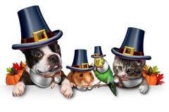 Celebrazione dell'animale domestico di ringraziamento royalty illustrazione gratis