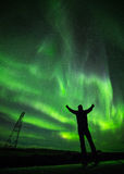 Celebrazione dell'aurora Fotografie Stock