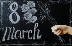 Celebrazione dell'8 marzo Fotografia Stock Libera da Diritti