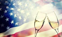 Celebrazione della festa dell'indipendenza negli Stati Uniti Fotografia Stock Libera da Diritti