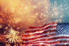 Celebrazione della festa dell'indipendenza negli Stati Uniti Fotografie Stock Libere da Diritti