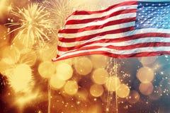 Celebrazione della festa dell'indipendenza negli Stati Uniti Immagine Stock