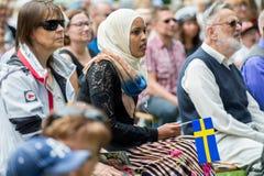 Celebrazione della festa nazionale della Svezia Fotografie Stock Libere da Diritti