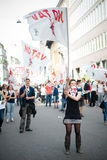 Celebrazione della liberazione tenuta a Milano il 25 aprile 2014 Fotografie Stock Libere da Diritti