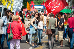 Celebrazione della liberazione tenuta a Milano il 25 aprile 2014 Immagini Stock