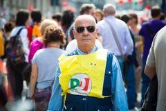 Celebrazione della liberazione tenuta a Milano il 25 aprile 2014 Immagine Stock Libera da Diritti