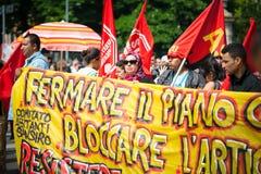 Celebrazione della liberazione tenuta a Milano il 25 aprile 2014 Immagine Stock