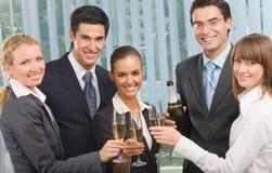 Celebrazione della squadra di affari Fotografia Stock