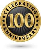 Celebrazione della 100th etichetta dell'oro di anniversario, vettore royalty illustrazione gratis