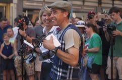 Celebrazione della vittoria Fotografie Stock Libere da Diritti