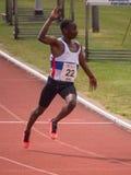 Celebrazione dello sprinter fotografia stock
