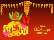 Celebrazione di Akshaya Tritiya illustrazione di stock