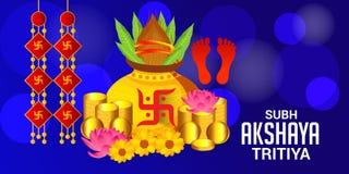 Celebrazione di Akshaya Tritiya royalty illustrazione gratis