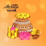 Celebrazione di Akshaya Tritiya illustrazione vettoriale