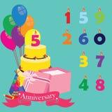 Celebrazione di anniversario illustrazione di stock