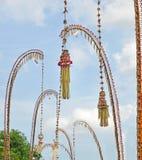 Celebrazione di balinese di Penjor di Galungan Fotografia Stock Libera da Diritti