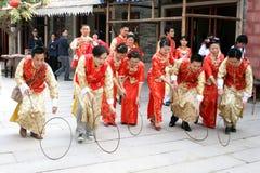 Celebrazione di cerimonia nuziale del cinese tradizionale Fotografie Stock Libere da Diritti