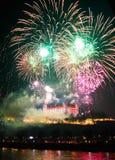 Celebrazione di festa dell'indipendenza e del nuovo anno a Bratislava, Slovaki Fotografie Stock Libere da Diritti