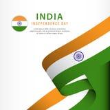 celebrazione di festa dell'indipendenza dell'India, illustrazione del modello di vettore di progettazione di insieme dell'insegna illustrazione vettoriale