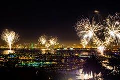 Celebrazione di Fireworsk Fotografie Stock