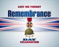 Celebrazione di giornata della memoria dell'Inghilterra illustrazione vettoriale