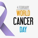Celebrazione di giorno del cancro del mondo di consapevolezza eps10 del cancro Immagini Stock Libere da Diritti