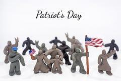 Celebrazione di giorno del ` s del patriota Foto astratta Figure fatte dall'argilla del gioco Fotografia Stock