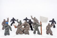 Celebrazione di giorno del ` s del patriota Foto astratta Figure fatte dall'argilla del gioco Fotografia Stock Libera da Diritti