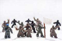 Celebrazione di giorno del ` s del patriota Foto astratta Figure fatte dall'argilla del gioco Immagine Stock