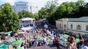 Celebrazione di giorno della città di Kyiv a Kiev, Ucraina, video d archivio
