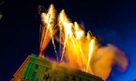 Celebrazione di giorno della Repubblica nella citt? di Genova immagini stock