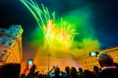 Celebrazione di giorno della Repubblica nella citt? di Genova immagini stock libere da diritti