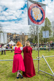 Celebrazione di giorno della st Georges ai giardini di piacere di Vauxhall immagine stock libera da diritti