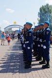 Celebrazione di giorno delle forze disperse nell'aria russe Fotografia Stock Libera da Diritti