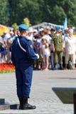Celebrazione di giorno delle forze disperse nell'aria russe immagine stock libera da diritti