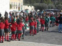 Celebrazione di giorno di Patricks del san a Lisbona, Portogallo Fotografia Stock