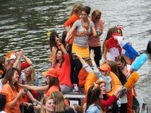Celebrazione di giorno di re a Amsterdam Immagini Stock
