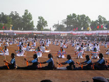Celebrazione di giorno di Rebublic dell'India, in Jagdalpur (Chhattisgarh) Fotografie Stock