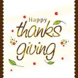 Celebrazione di giorno di ringraziamento con il manifesto o la carta alla moda Immagini Stock