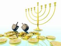 Celebrazione di Hanukkah. Fotografie Stock